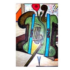 Picasso Green Cello Plant Postcards (Package of 8)