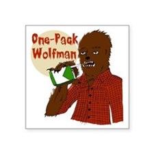 "One-Pack Wolfman Square Sticker 3"" x 3"""