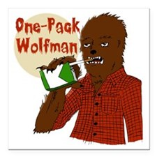 "One-Pack Wolfman Square Car Magnet 3"" x 3"""