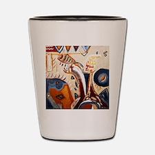 Picasso Manna Lisa Art Painting Shot Glass