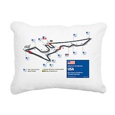 Formula 1 - Circuit of t Rectangular Canvas Pillow