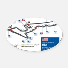 Formula 1 - Circuit of the America Oval Car Magnet