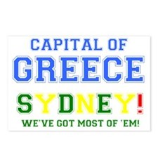 CAPITAL OF GREECE - SYDNE Postcards (Package of 8)
