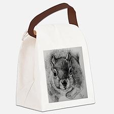 Squrrel Sketch Canvas Lunch Bag