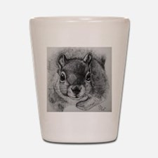Squrrel Sketch Shot Glass