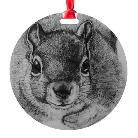 Squrrel Sketch Round Ornament