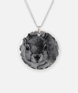 Squrrel Sketch Necklace