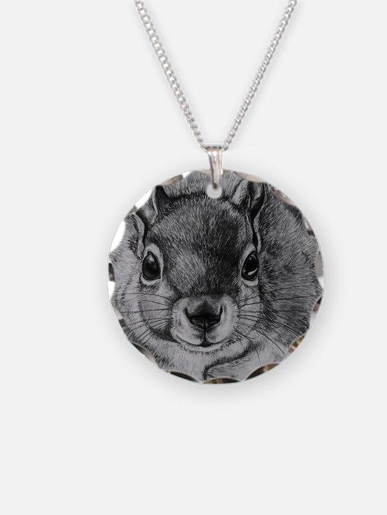 Squrrel Sketch Necklace