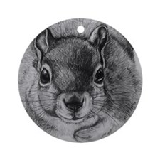 Squrrel Sketch Round Ornament