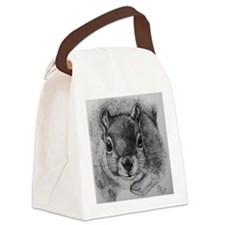 Squirrel Sketch Canvas Lunch Bag