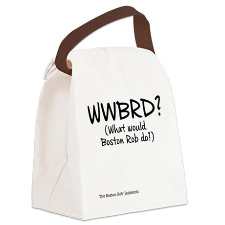 WWBRD? (What would Boston Rob do? Canvas Lunch Bag
