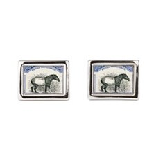 Antique 1904 North Borneo Tapir Postage  Cufflinks