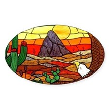 Southwestern Stained Glass Eagle Decal