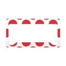 Poppy Red Polkadot License Plate Holder