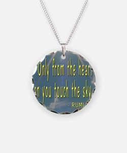 FROM THE HEART - RUMI QUOTE Necklace