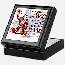 Davys Gone To Texas Keepsake Box