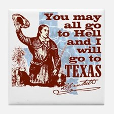 Davys Gone To Texas Tile Coaster