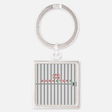 Jail the Bank$ster$ Square Keychain