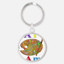 All Over Women Front Round Keychain