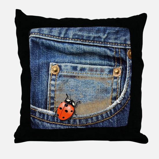 Buggy  Jeans Throw Pillow