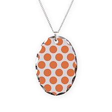 Nectarine Orange Polkadot Necklace