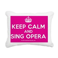 Keep Calm and Sing Opera Rectangular Canvas Pillow