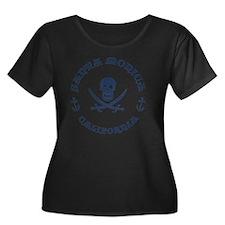 souv-pir Women's Plus Size Dark Scoop Neck T-Shirt