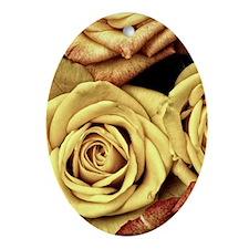 Golden Roses Oval Ornament