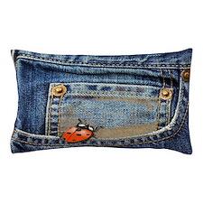 Ladybug Jeans Pillow Case