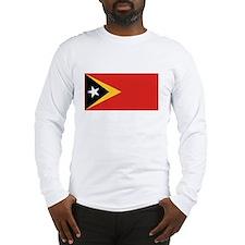 East Timor Leste Flag T Shirt Long Sleeve T-Shirt