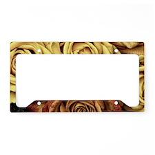 Golden Roses License Plate Holder