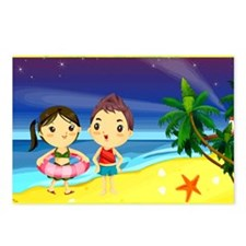 Romantic Cartoon 7 Postcards (Package of 8)