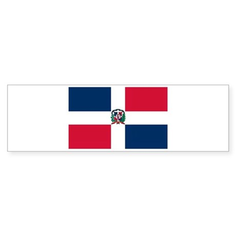 Dominican Republic Flag T Shi Bumper Sticker