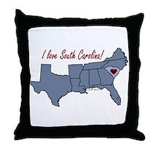 South Carolina-South Throw Pillow