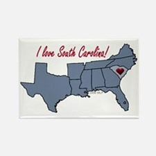 South Carolina-South Rectangle Magnet