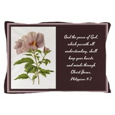 Constans Hibiscus - God Give You Peace Pillow Case