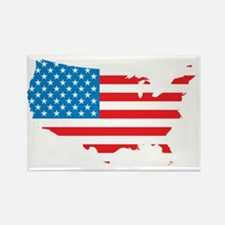 Map of USA Rectangle Magnet