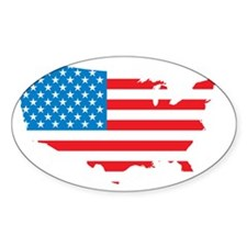 Map of USA Decal