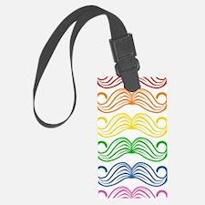 Rainbow Moustaches Luggage Tag
