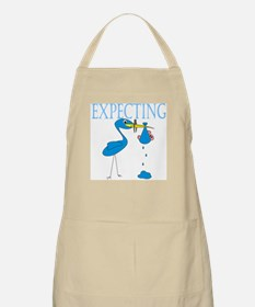 Expecting Blue BBQ Apron