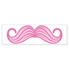 Pink Moustache Bumper Sticker