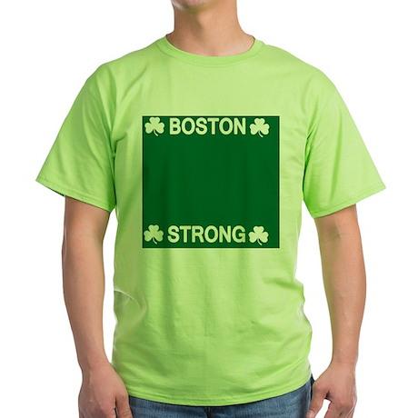 Boston Strong Shamrock Green T-Shirt