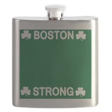 Boston Strong Shamrock Flask