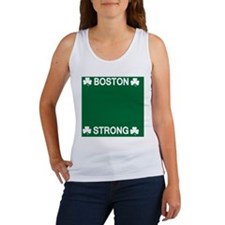 Boston Strong Shamrock Women's Tank Top