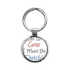 So Cute Dutch Round Keychain