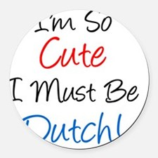 So Cute Dutch Round Car Magnet