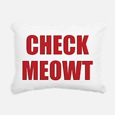 Check Meowt Rectangular Canvas Pillow