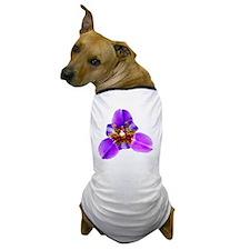 Deep Purple Exotic Orchid Dog T-Shirt