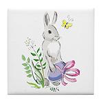 Pretty Easter Bunny Tile Coaster
