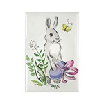 Pretty Easter Bunny Rectangle Magnet (10 pack)